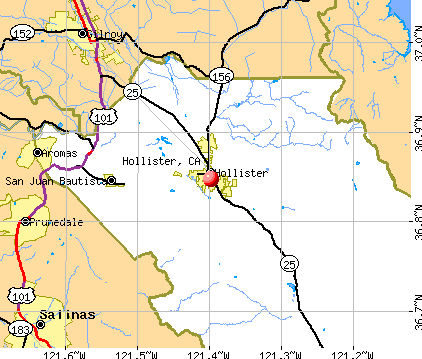 ubicación de Hollister