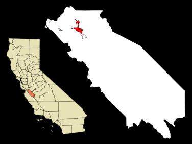 Ubicación de Hollister en mapa de California.