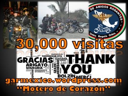 30,000 vistas al sitio del Motero de Corazón.