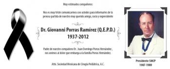 """""""El Gran Ausente"""", el gran maestro Dr. Ernesto Giovanny Porras Ramírez.  Que sin él, ATLS y PHTLS no hubieran podido enfrentar la resistencia al cambio."""